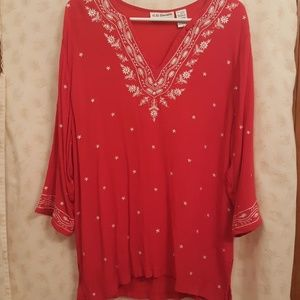 CD Daniels embroidered tunic